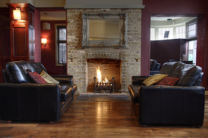 Image: Brick Fireplace Fireplace Surrounds (Interior Masonry or Stone Veneer or Chimney Surround)